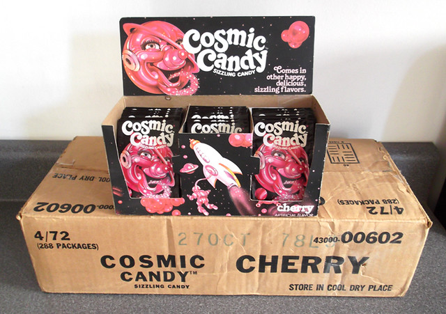 Vintage General Foods Cherry Cosmic Candy Box Packs