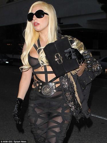 Lady Gaga See Through Bra