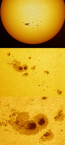 Sunspot group 1520,21 re-process 110712 by Mick Hyde