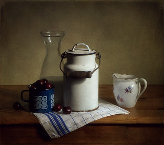 Still Life With Milk Churn & Cherries