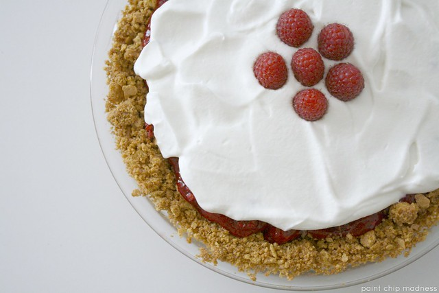 raspberry icebox pie (paint chip madness)