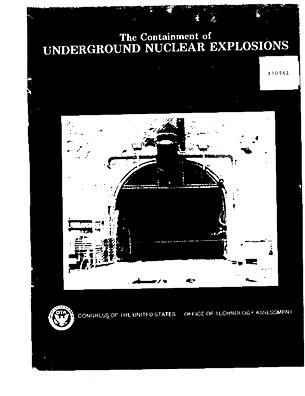 Containment Underground Nuclear Explosions