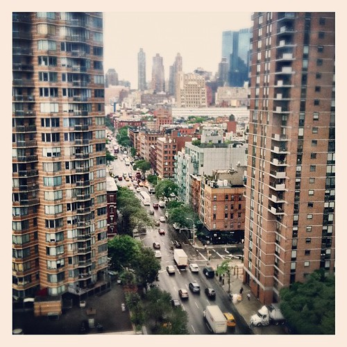 View outside my parents livingroom - 10th Ave #HellsKitchen #newyork #nyc