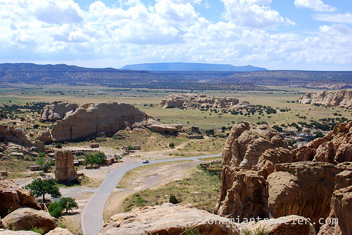 view north from Acoma Pueblo