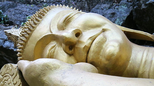 Head of Reclining Buddha - Wat Pa Huak