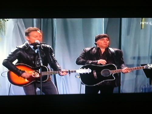 Bruce Springsteen y Steve Van Zandt en homenaje a las víctimas de Utoya