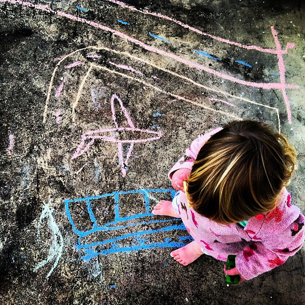 In the city #chalk #concrete #play