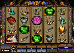 Great Griffin Free Spins