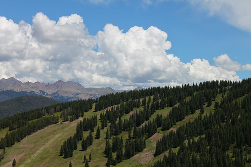 trees mountains clouds colorado day view cloudy vail