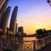 Sunset at Boat Quay - Singapore by Sharky's