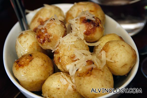 New Potatoes with truffle & parmesan (AUD$10)