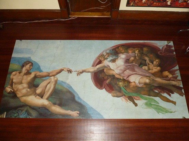 12000 Piece Puzzle The Creation Of Adam By Michelangelo
