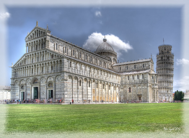 Pisa. Piazza dei Miracoli. Duomo and Bell Tower.