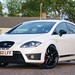 Seat Leon Cupra R in Candy White with Gloss Black Wheels