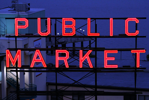 Pike Place Market - Illuminated Sign, Again