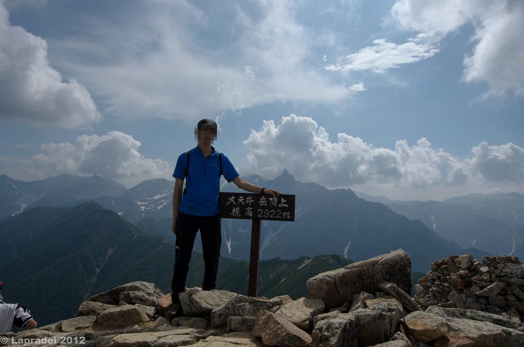 20120728 大天井岳山頂