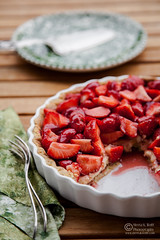 French Strawberry Creme Patiserie Tart by Meeta K. Wolff