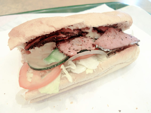 beef pastrami subway
