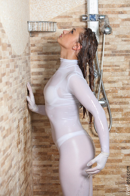 2118 Dancer Wetlook With Girl In White Jumpsuit Sexy -7368