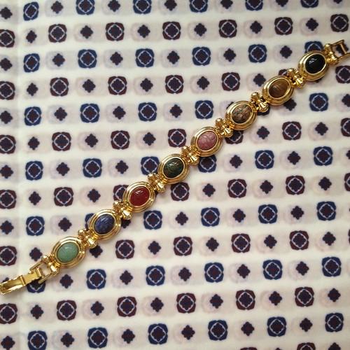 scarab stone bracelet