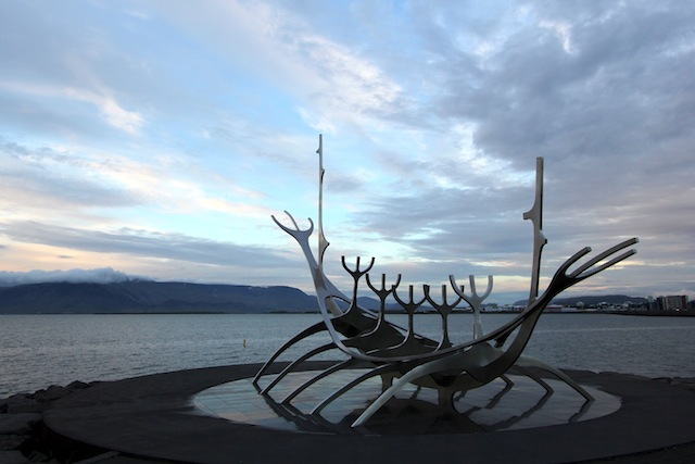 Solfar sculpture at Reykjavik harbor