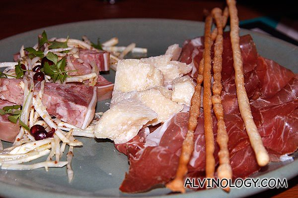 Prosciutto di Parma e Grana Padano - Parma ham with Grana Padano chunk
