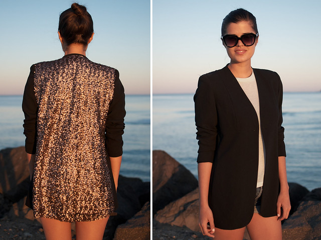 DIY sequin blazer