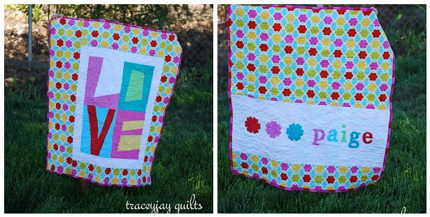 love quilt front and back