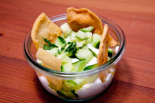 Plain Chobani + Cucumber