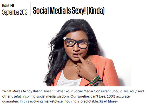Fast Company Sexy SOcial Media Cover from September Issue
