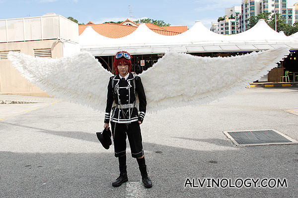 Love this cosplayer's costume and wings