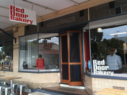 outside Red Door Bakery