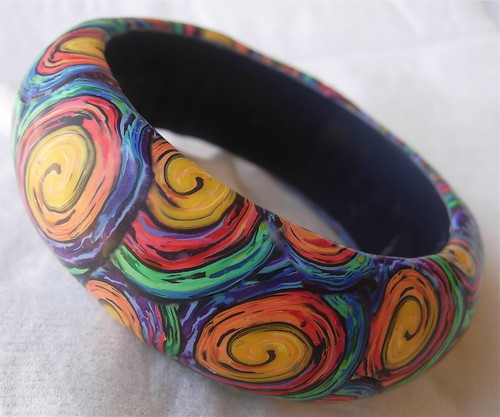 Magic Swirls Chunky Bangle