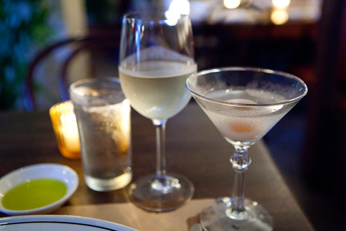 "Drinks: Lychee martini and Sancerre ""Reserve Vieilles Vignes"" Gerard 2011"