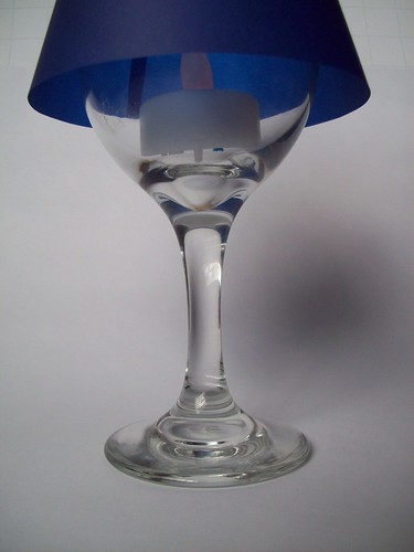 finished wine glass lampshade