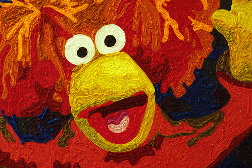 Fraggle Rock yarn painting set of 3