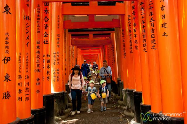 School Children at Fushimi Inari Shrine - Kyoto, Japan