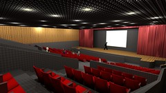 movie theater, convention, performing arts center, theatre, stage, theatre, auditorium, audience, convention center,