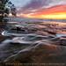 Rushing Twilight - Hurricane River (Pictured Rocks National Lakeshore - Upper Michigan) by Aaron C. Jors
