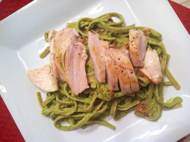 Avocado Pasta with Chicken