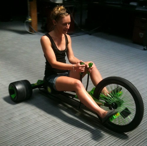 Nadia on the Green Machine