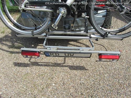Fahrrad fahren im Alten Land Nummernschild