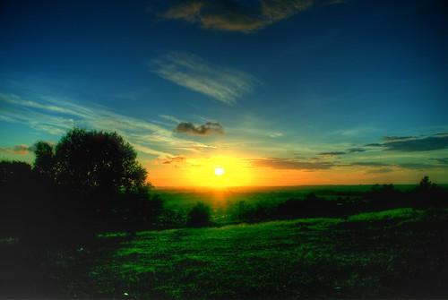 無料写真素材, 自然風景, 朝焼け・夕焼け, 草原・草, 風景  イギリス