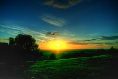 [フリー画像素材] 自然風景, 朝焼け・夕焼け, 草原・草, 風景 - イギリス ID:201208301600