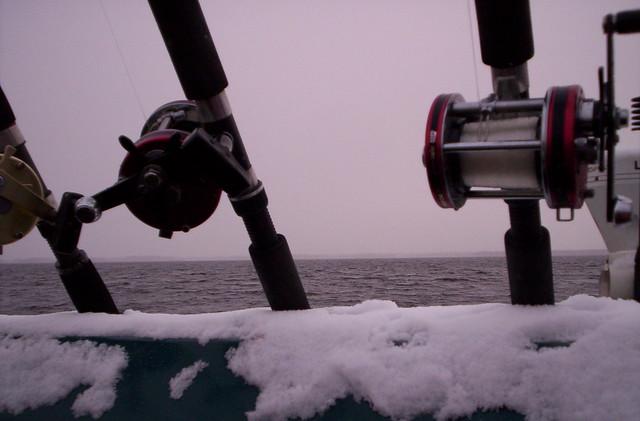 La nieve sobre el barco