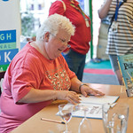 Val McDermid book signing | Val McDermid signs copies of her new book for children - My Grannie is a Pirate