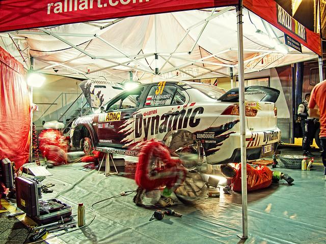 ADAC Rallye Germany 2012 Servicepark Mitsubishi