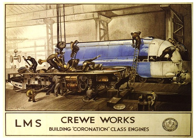 LMS Crewe Works Building Coronation Class Engines