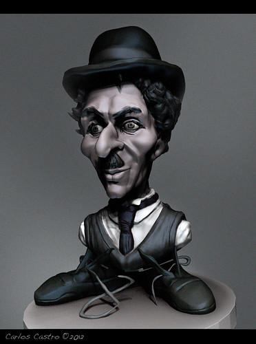 Charles-Chaplin by Carlos Castro Pérez