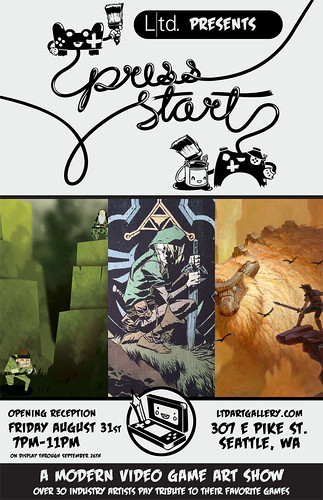 Press Start: A Modern Video Game Art Show | Gallery Opening: 30+ Video Game Artists, & More